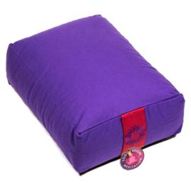 Meditatiekussen violet rechthoekig