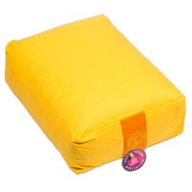 Meditatiekussen geel rechthoekig
