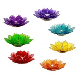Lotus sfeerlicht met zilveren rand