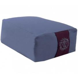 Meditatiekussen blauw rechthoekig
