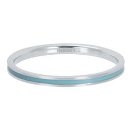 IXXXI Vulring  Line Turquoise zilverkleurig 2 mm