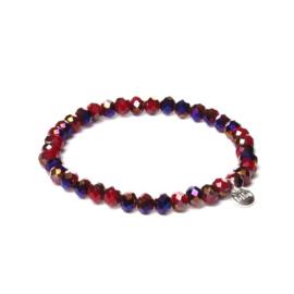 Biba armband crystal rood