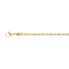 IXXXI Men ketting 60 cm goudkleurig