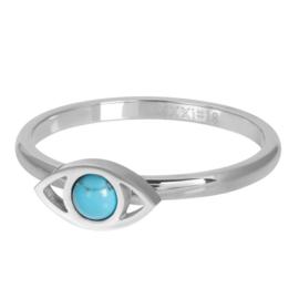 IXXXI Jewelry vulring lucky eye 2 mm zilverkleurig