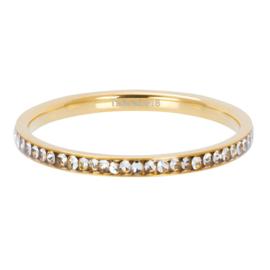 Ixxxi-jewelry  vulring  Zirconia crystal goudkleurig 2mm