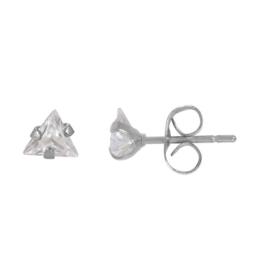 iXXXi oorbellen / oorstekers Triangle stone zilverkleurig