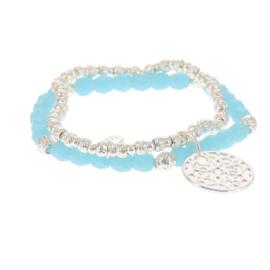 Biba armband set crystal met hanger blauw