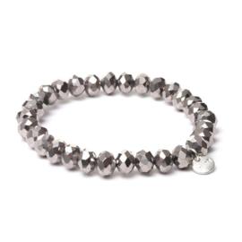 Biba armband crystal grijs