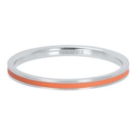 IXXXI Vulring Line Coral zilverkleurig 2 mm