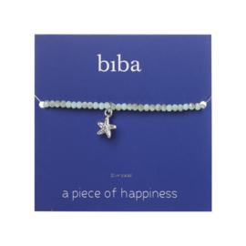 Biba armband crystal groen met bedel