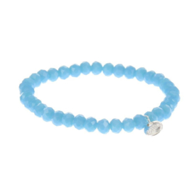 Biba armband crystal basic  blauw