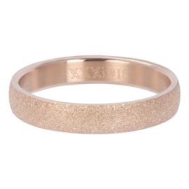 IXXXI Vulring Sandblasted  rosegoudkleurig 4 mm