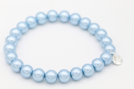 Biba armband glasparel blauw