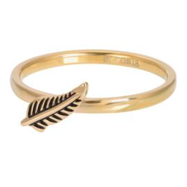 IXXXI Jewelry vulring symbol feather 2 mm goudkleurig