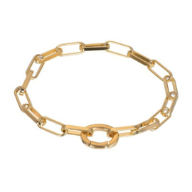 IXXXI armband Square chain goudkleurig