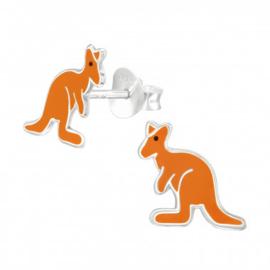 Kinder  oorsteker  kangoeroe sterling zilver 925