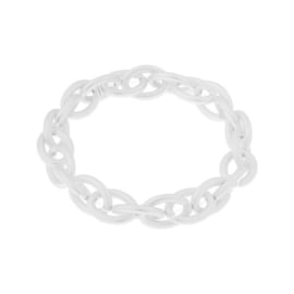 Biba armband grote schakel mat zilverkleurig