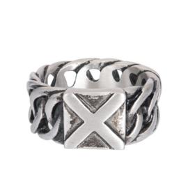 IXXXI Men ring Hummer zilverkleurig staal