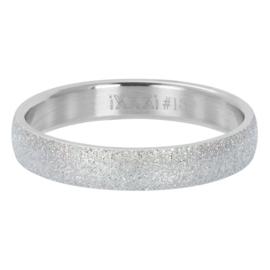 IXXXI Vulring Sandblasted zilverkleurig 4 mm