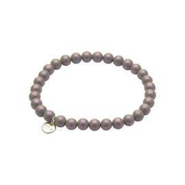 Biba armband glasparel  paars/roze/grijs