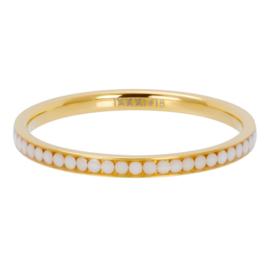 Ixxxi-jewelry  vulring  White stone goudkleurig 2mm