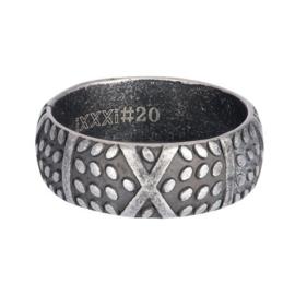 IXXXI Men ring ferrari zilverkleurig staal
