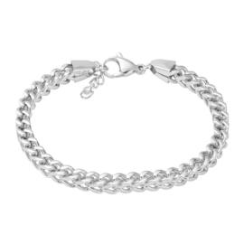 IXXXI jewelry stalen schakelarmband Moscow zilverkleurig
