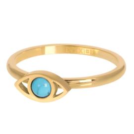 IXXXI Jewelry vulring lucky eye  2 mm goudkleurig