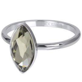 IXXXI Vulring Royal diamond crystal zilverkleurig 2mm
