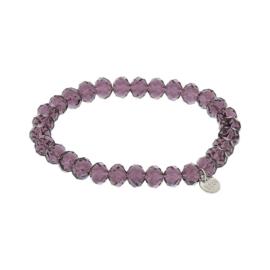 Biba armband crystal paars
