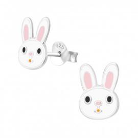 Kinder oorbel / oorsteker sterling zilver 925 konijn