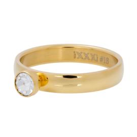 IXXXI Vulring  Zirconia 1 stone crystal goudkleurig 4 mm