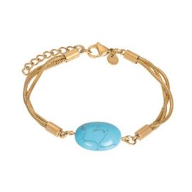 IXXXI armband Summer goudkleurig