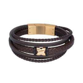 iXXXi MEN armband Elias mat goudkleurig