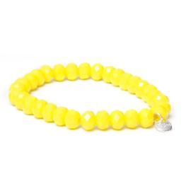 Biba armband basic crystal geel 8 mm