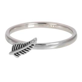 IXXXI Jewelry vulring symbol feather 2 mm zilverkleurig