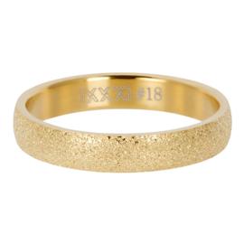 IXXXI Vulring  Sandblasted goudkleurig 4 mm
