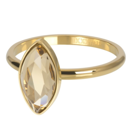 IXXXI Vulring  Royal diamond topaz goudkleurig 2mm