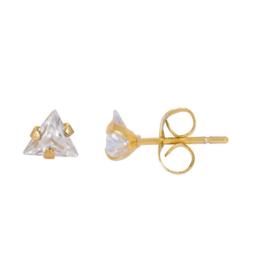 iXXXi oorbellen / oorstekers Triangle stone Goudkleurig