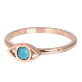 IXXXI Jewelry vulring lucky eye  2 mm rose goudkleurig