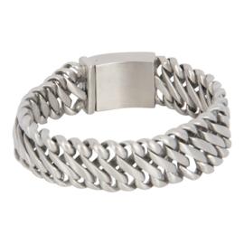 IXXXI Men stalen armband mat zilverkleurig  Miami maat 22