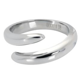 iXXXi jewelry stalen single ring zilverkleurig Vera