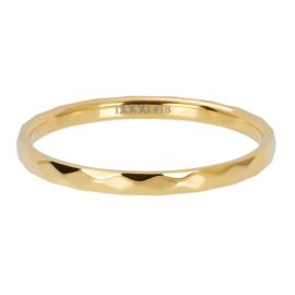 Ixxxi-jewelry  vulring  Hammerite goudkleurig 2mm