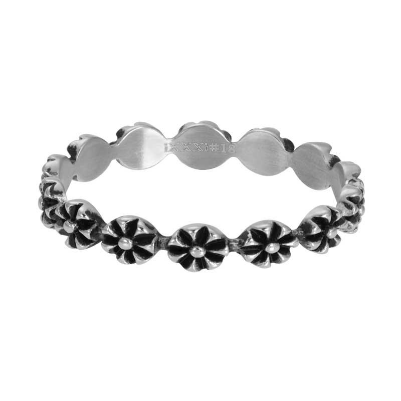 IXXXI Jewelry vulring flowers 4 mm zilverkleurig