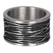 IXXXI Men ring Chrysler mat zilver