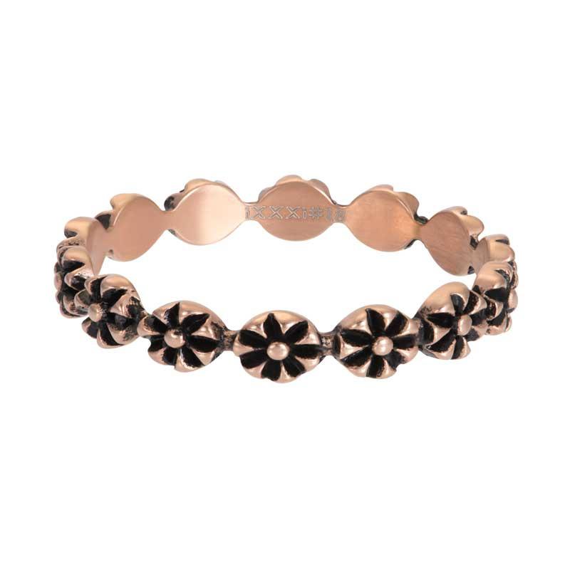 IXXXI Jewelry vulring flowers 4 mm rose goudkleurig