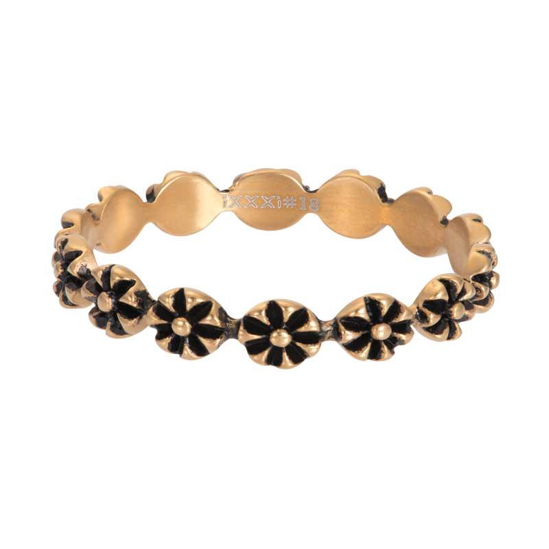 IXXXI Jewelry vulring flowers 4 mm goudkleurig