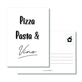 A6 kaart | Pizza Pasta & Vino