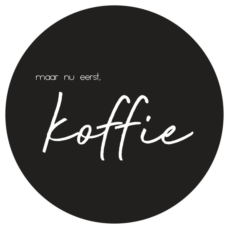 Muurcirkel | Koffie zwart