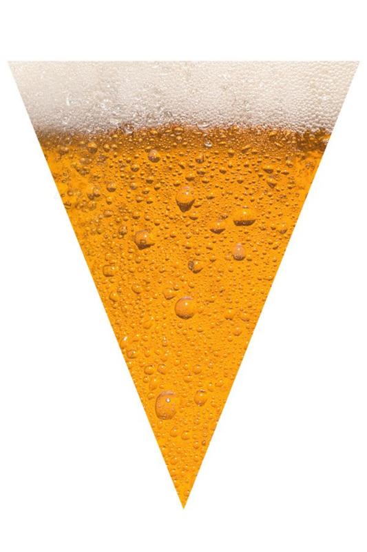 Bier Flagge Linie